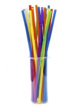 Трубочка Артистик 8 цветов d6, 26см, 100шт