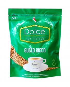 Кофе растворимый Dolce Aroma Gusto Ricco, 60 г