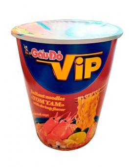 Лапша быстрого приготовления со вкусом креветки TOM YAM GauDo VIP, 65 г
