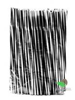Трубочка фреш черно-белая, витая, с гофрой, d8, 25см, 100шт