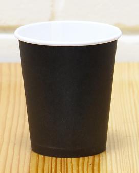 Стакан бумажный черный 175 мл, 50 шт