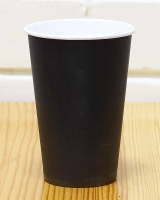 Стакан бумажный черный 340 мл, 50 шт