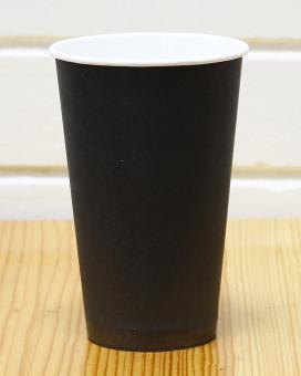 Стакан бумажный черный 500 мл, 35 шт