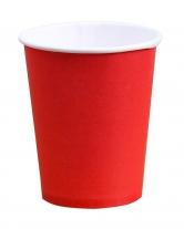 Стакан бумажный красный 340 мл, 50 шт