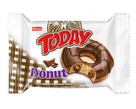 Пончик бисквитный шоколадный Elvan TODAY DONUT COCOA, 50 г