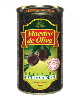 Маслины без косточки Maestro de Oliva, 280 г (ж/б)