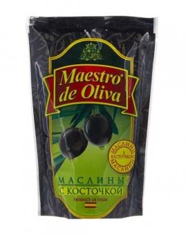 Маслины с косточкой Maestro de Oliva, 170 г (ПЭТ)