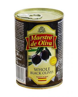 Маслины с косточкой Maestro de Oliva, 280 г (ж/б)