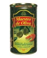Оливки с креветкой Maestro de Oliva, 280 г (ж/б)