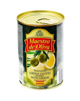 Оливки с лимоном Maestro de Oliva, 280 г (ж/б)