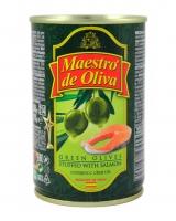 Оливки с сёмгой Maestro de Oliva, 280 г (ж/б)