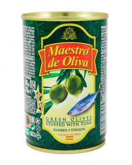 Оливки с тунцом Maestro de Oliva, 280 г (ж/б)