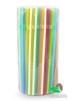 Трубочка цветная (ПП), d5 мм, 21 см, 200 шт