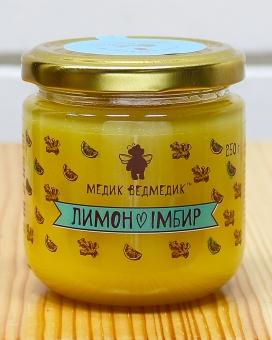 """Мед с лимоном и имбирем """"Медик Ведмедик"""", 250 г"""