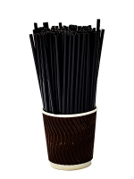 Трубочка мартини черная, USA, d3,3 13см, 200шт