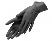 Перчатки нитриловые черные, размер S, 100 шт