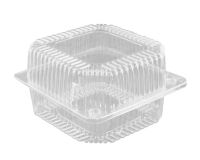 Контейнер пластиковый одноразовый для продуктов ПС-10 132х132х80 мм, 900 мл