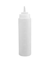 Бутылка для соуса прозрачная, 600 мл (соусник, диспенсер, дозатор)