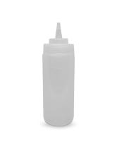 Бутылка для соуса прозрачная, 360 мл (соусник, диспенсер, дозатор)