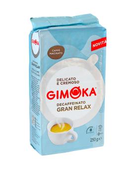 Кофе молотый Gimoka Gran Relax Decaffeinato (без кофеина), 250 г (40/60)