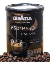 Кофе молотый Lavazza Caffe Espresso/ Lavazza Espresso Italiano Classico 100% арабика, 250 г (ж/б)