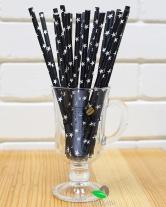 Трубочка коктейльная бумажная, Звезда d6, 20 см, 25 шт