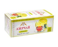 """Чай черный Azercay """"Лимон"""", 1,8г*25 шт (ароматизированный чай в пакетиках)"""