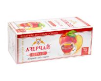 """Чай черный Azercay """"Персик"""", 1,8г*25 шт (ароматизированный чай в пакетиках)"""