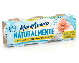 Тунец консервированный в минеральной воде Mare Aperto, 3шт*80г