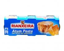 Тунец консервированный в подсолнечном масле Rianxeira, 3шт*80г