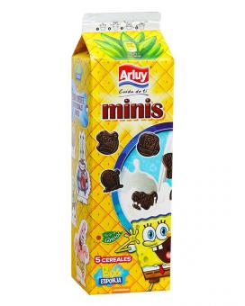 Печенье шоколадное с сахаром Arluy Minis Spanch Bob, 275 г