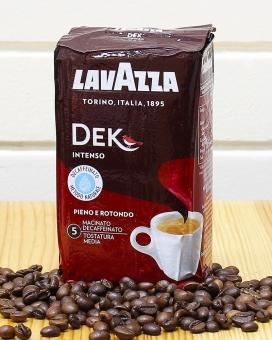 Кофе молотый Lavazza Dek Intenso (без кофеина), 250 г (30/70)
