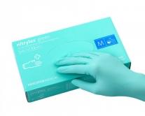 Перчатки нитриловые зеленые, размер L, 100 шт