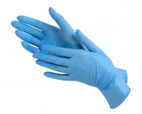 Рукавички нітрілові, сині  S 100 шт.(кабаре)