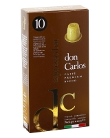 Кофе в капсулах Carraro Don Carlos Espresso Bar NESPRESSO, 10 шт