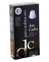 Кофе в капсулах Carraro Don Carlos Puro Arabika 100% NESPRESSO, 10 шт (100% арабика)