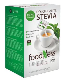 Натуральный сахарозаменитель Стевия Foodness (саше 1 г*250 шт), 250 грамм