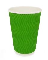 Гофростакан 250 мл зеленый, 20 шт