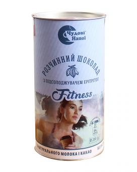 Горячий шоколад Чудові напої Fitness с подсластителем эритритол, 200 г (тубус)