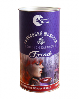 Горячий шоколад Чудові напої French с соленой карамелью, 200 г (тубус)