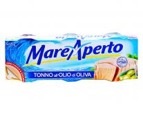Тунец консервированный в оливковом масле Mare Aperto, 3шт*120г