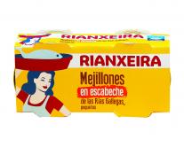 Мидии консервированные Rianxeira, 2шт*80г