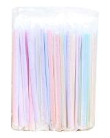 Трубочка цветная индивидуально упакованная, d5 мм, 21 см, 100 шт