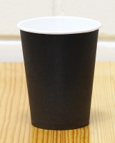Стакан бумажный чёрный 250 мл, 50 шт