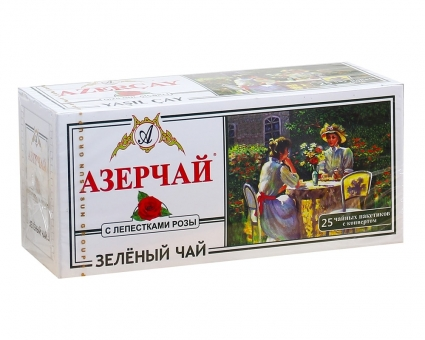 Чай зеленый с розой Azercay, 2г*25 (в пакетиках)