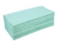 Полотенца бумажные зеленые из макулатуры, 160 шт