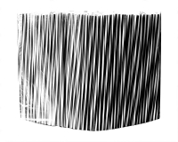 Трубочка фреш черно-белая, витая, d8, 25см, 500 шт