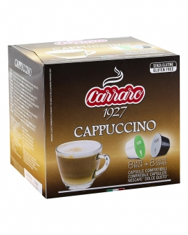 Капучино в капсулах Carraro Cappuccino DOLCE GUSTO, 16 шт