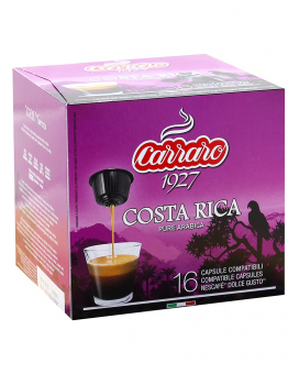 Кофе в капсулах Carraro Costa Rica DOLCE GUSTO, 16 шт (моносорт арабики)