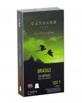 Кофе в капсулах Carraro Brasile NESPRESSO, 10  шт (моносорт арабики)